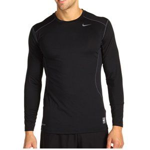 Nike Pro Combat Fitted Long Sleeve T-Shirt,Black S